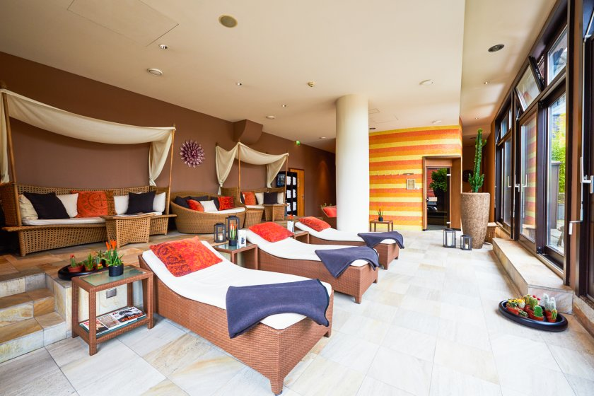 Spa area at east Hotel Hamburg - massage, cosmetics and sauna