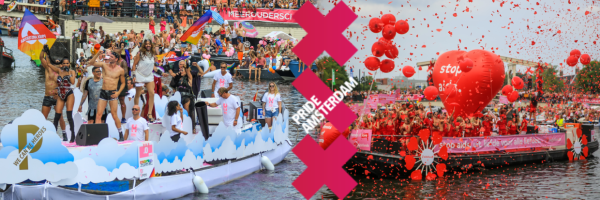 Canal Parade - the highlight of Amsterdam Pride