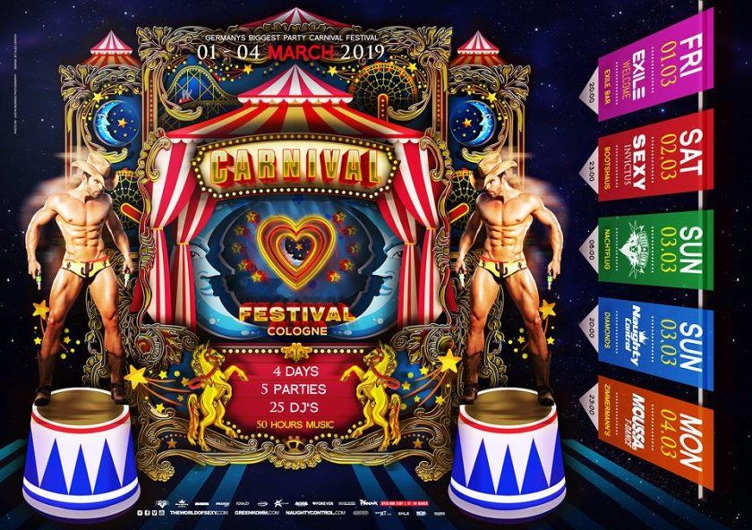 Carnival Festival - europe\'s biggest gay carnival event in Cologne