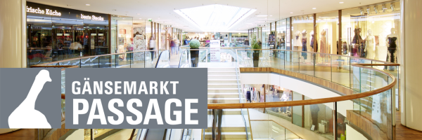 Gänsemarkt Passage - Popular shopping centre in Hamburg city centre