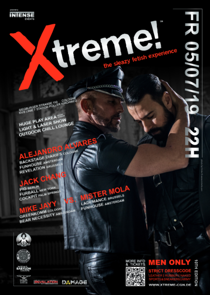 Xtreme! 2019 The fetish party at the CSD weekend in Cologne