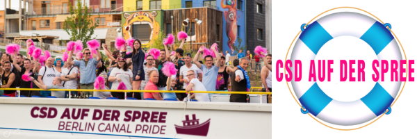 """Berlin Canal Pride - tour with 12 party ships """"queer"""" through Berlin"""