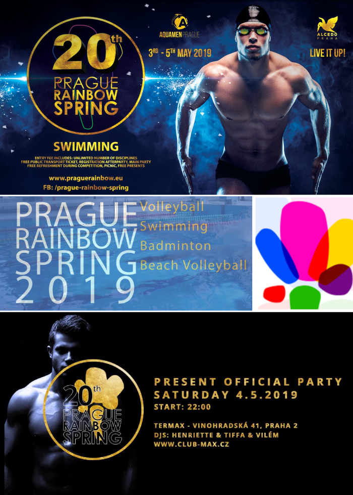 20th Prague Rainbow Spring: from 3 - 5 May 2019