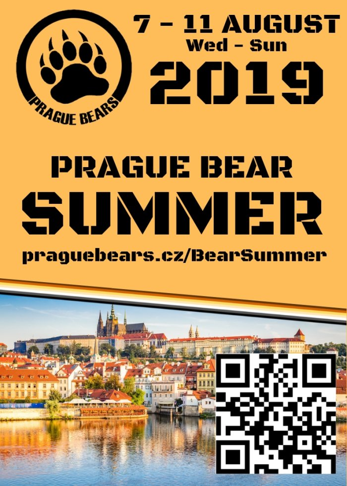 Prague Bear Summer 2019: Wednesday 7 August to Sunday 11 August
