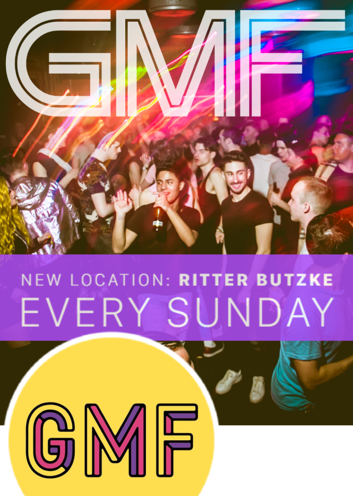 GMF @ Ritter Butzke - every Sunday the biggest gay party in Berlin