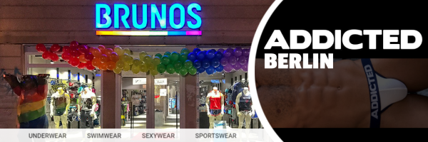 Addicted underwear and sportswear at the Brunos Store Berlin