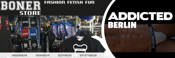 Addicted underwear and sportswear at the Boner Store Berlin