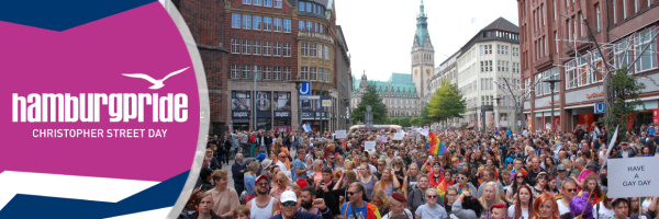 Hamburg Pride Parade - Gay Pride through the city centre of Hamburg