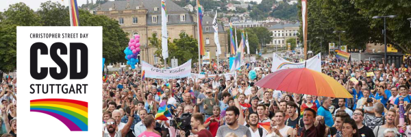 The Stuttgart Rainbow Parade is the highlight of the CSD Stuttgart