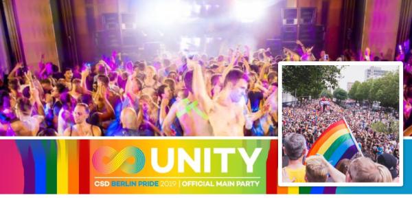 UNITY CSD Berlin Pride - eine der größten Berlin Pride Partys!