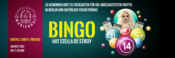 Gay Bingo with Stella deStroy at Marienhof Berlin
