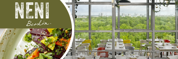 NENI Berlin - gay friendly restaurant with roof terrace and top view