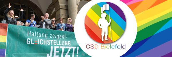 CSD Bielefeld - Pride Parade and the street festival in Bielefeld