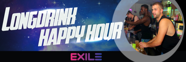 Happy Hour im Exile Cologne - Alle Longdrinks nur 5,10 Euro