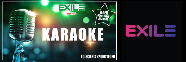 Karaoke @ Exile Cologne -Karaokeparty in Köln jeden Donnerstag