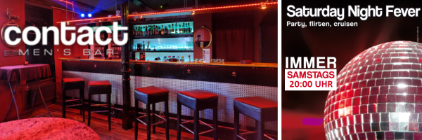 Saturday evening clubbing @ CONTACT bar: party, flirting and cruising