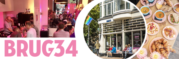 Burg 34 - gay friendly café, bar, breakfast restaurant in Amsterdam