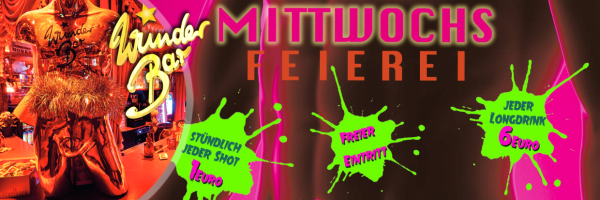 Mittwochs Feierei @ Wunderbar: Every Wednesday Gay Party Hamburg