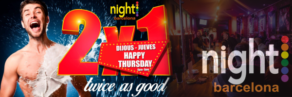 Happy Thursday @ Nightbarcelona - Happy Hour on Thursday in Barcelona