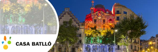Casa Batlló Barcelona - Facade with the colours of the rainbow
