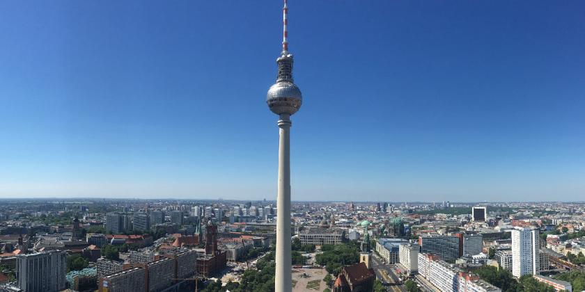 Berliner Syline mit Fernsehturm Berlin