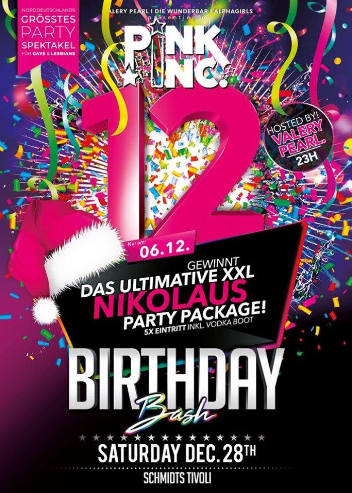 PINK INC - 12 Years Birthday Bash December 28, 2019 @ Schmidts Tivoli