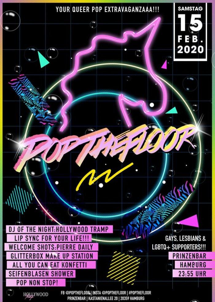 Pop The Floor @ Prinzenbar: Gay Party 2020 in Hamburg