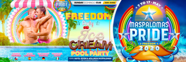 Freedom Party - Ice Cream Pool Party @ Pride Maspalomas 2020