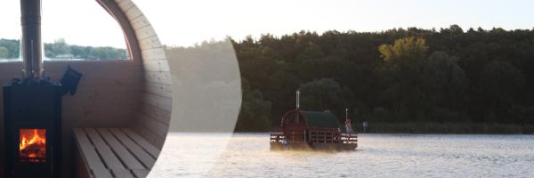 Sauna raft in Berlin - rent a raft with built-in sauna