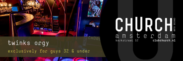 Twinks Orgy - Sex Party at Club Church for boys under 32 years