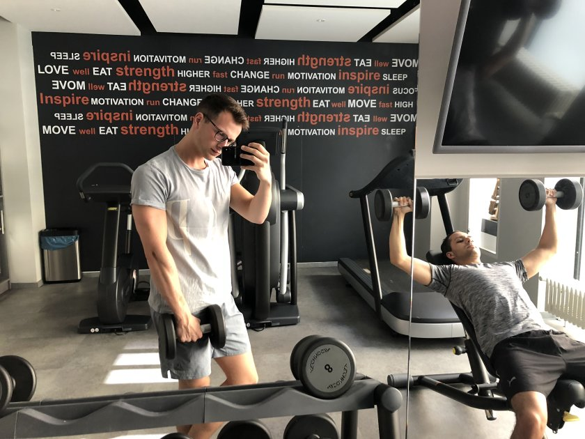 Park Plaza Berlin Kudamm - Dominik tests Fitness area