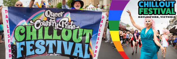 ChillOut PRIDE Parade for the Pride Festival in Daylesford