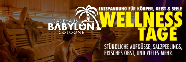 Wellness on Sunday in Cologne\'s popular gay sauna