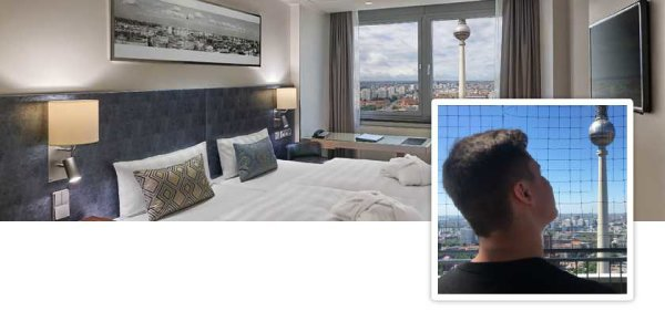 Park Inn Hotel Alexanderplatz: Brian tests Berlin\'s highest hotel