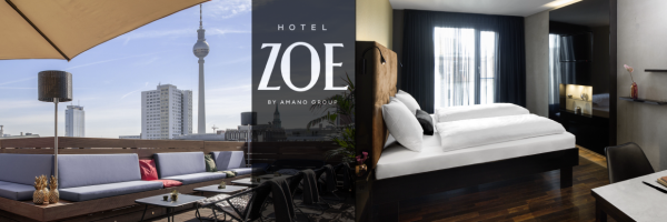 Hotel ZOE Berlin - Roof terrace and double room