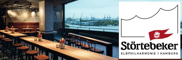 Restaurant Störtebeker Beer & Dine - Blick auf Hafen und Elbe