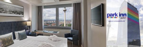 Park Inn Hotel am Alexanderplatz - Doppelzimmer mit City view