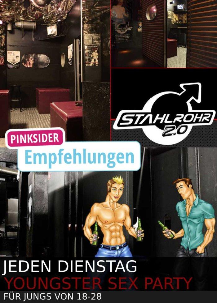 Stahlrohr Youngster Sex Party Berlin - für Jungs von 18-28